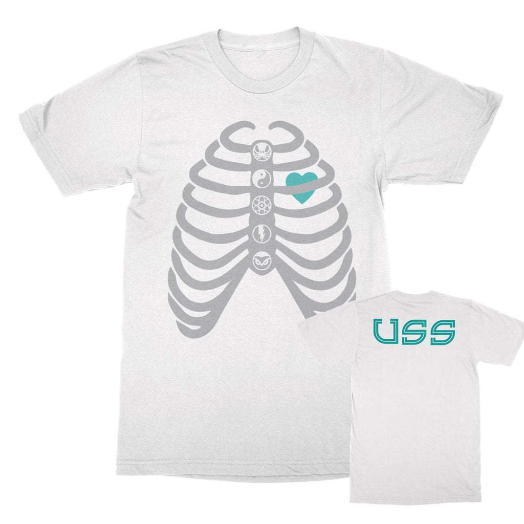 U.S.S. - Caged Heart - Unisex White Tee