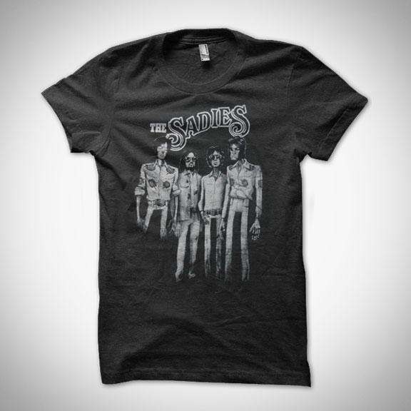 THE SADIES  Rumble Seat Girls T-Shirt - Heather Black