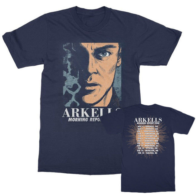 Arkells - Morning Report TOUR Tee - Navy Blue