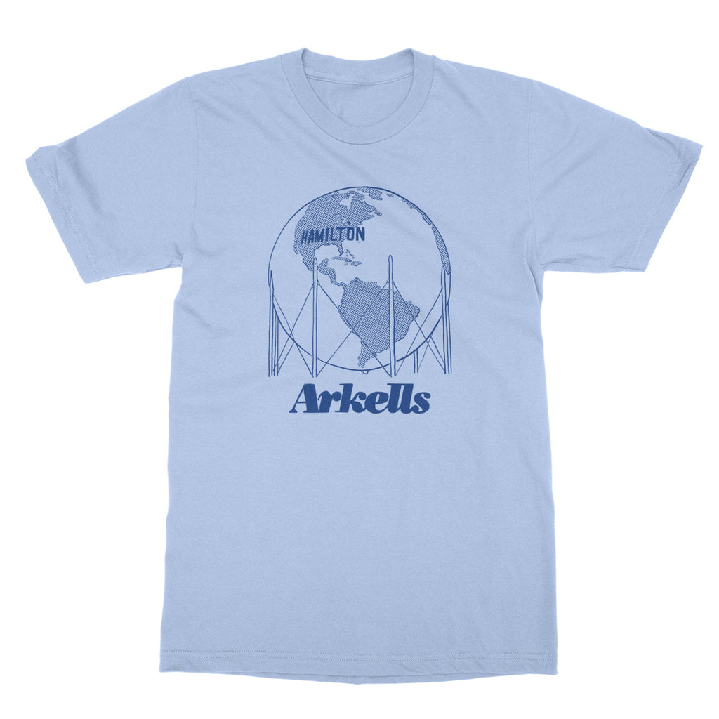 Arkells - Hamilton Water Tower - Powder Blue Tee