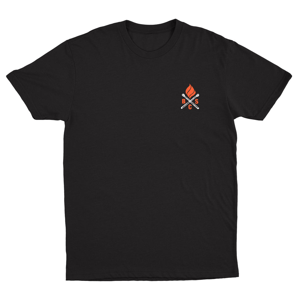 Bedouin Soundclash - Fire Logo - Black Tee