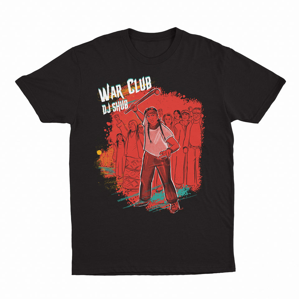 DJ Shub - War Club - Black Tee
