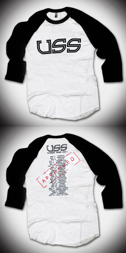 U.S.S. 2011 Baseball Tour Shirt - Back Print