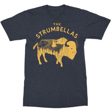 The Strumbellas - Bison - Heather Navy Tee