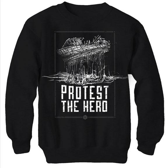 PROTEST THE HERO Ship Black Crew Sweatshirt