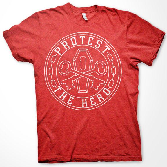 PROTEST THE HERO Keys Heather Red T-Shirt