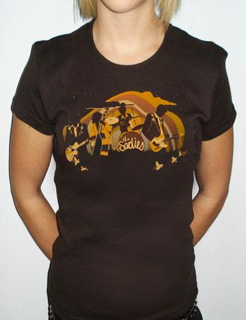 NEW! THE SADIES Girls Horizon Shirt - BROWN