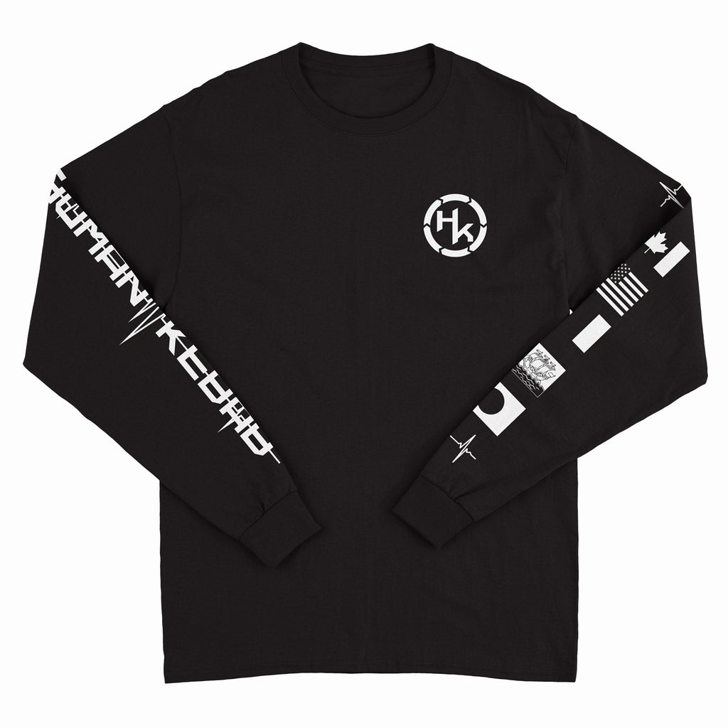 Human Kebab - Heart Rate - Black Long Sleeve