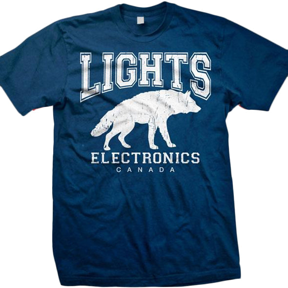 LIGHTS -Wolf- T-Shirt - NAVY