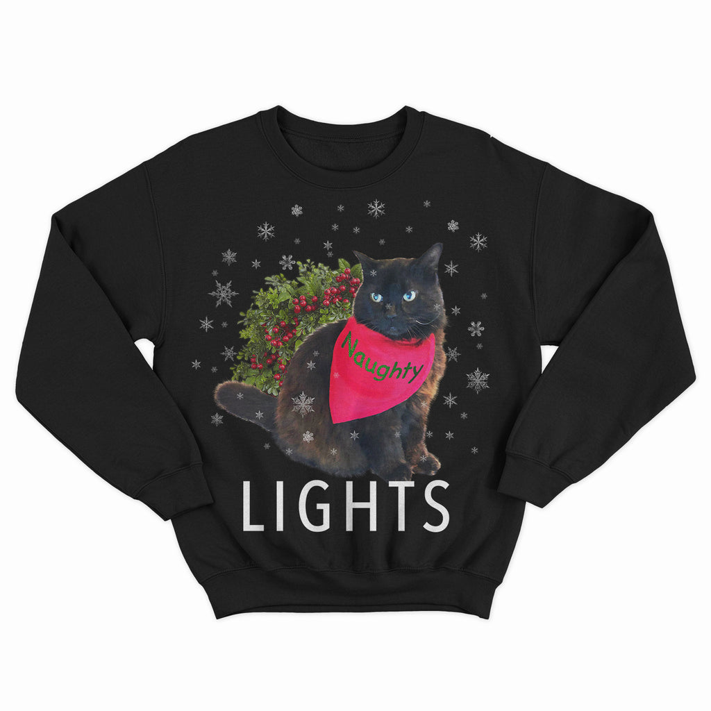 LIGHTS Naughty Stanley Cat - Crew Sweater