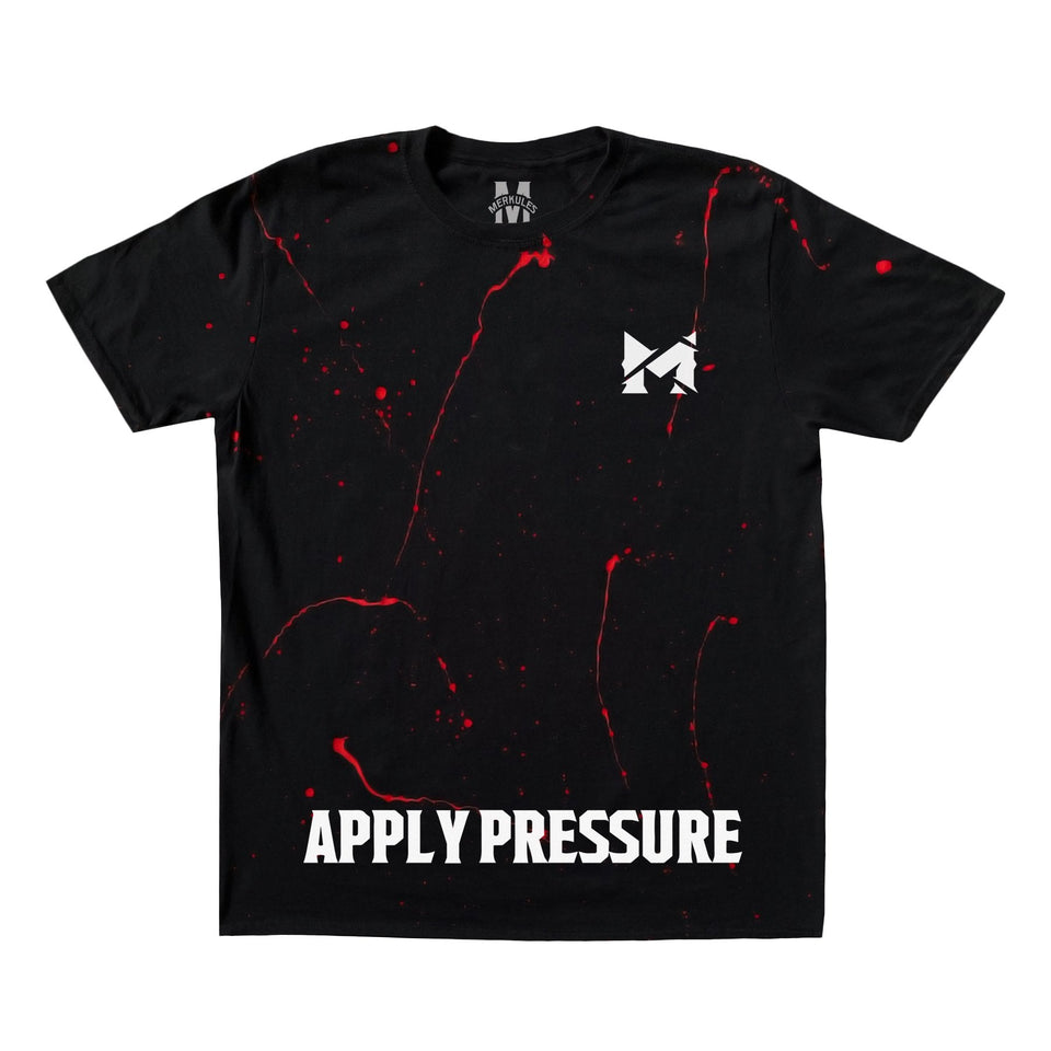 LTD. Edition - Merkules - Apply Pressure - Black Splatter Tee