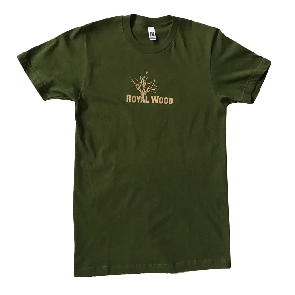 Royal Wood - Tree - Olive Green Tee