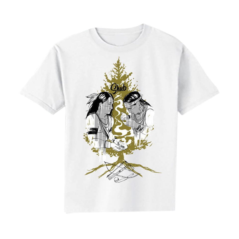 DJ Shub - Tree Of Peace - White Tee