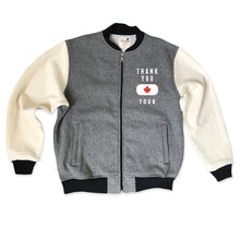 Thank You Canada Tour - Official Varsity Jacket - Salt and Pepper