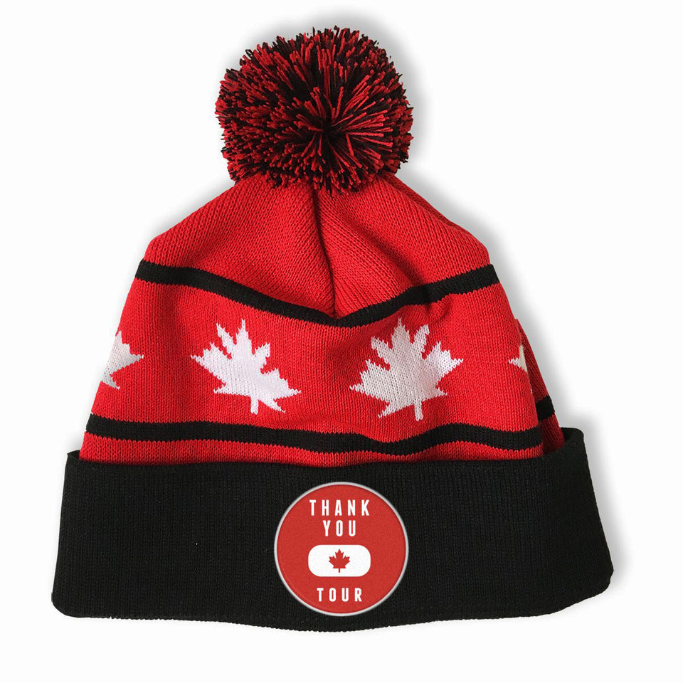 Thank You Canada Tour - Custom Knit Pom Pom Hat