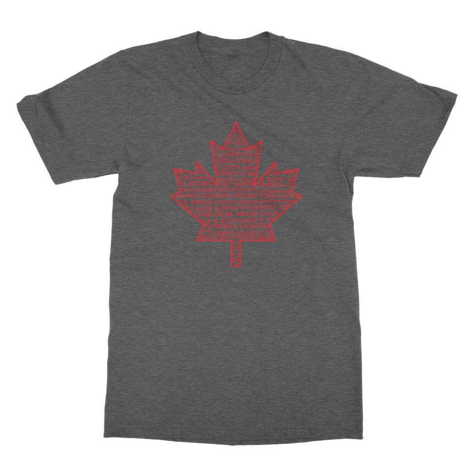 Thank You Canada Tour - Leaf Tee - Heather Charcoal