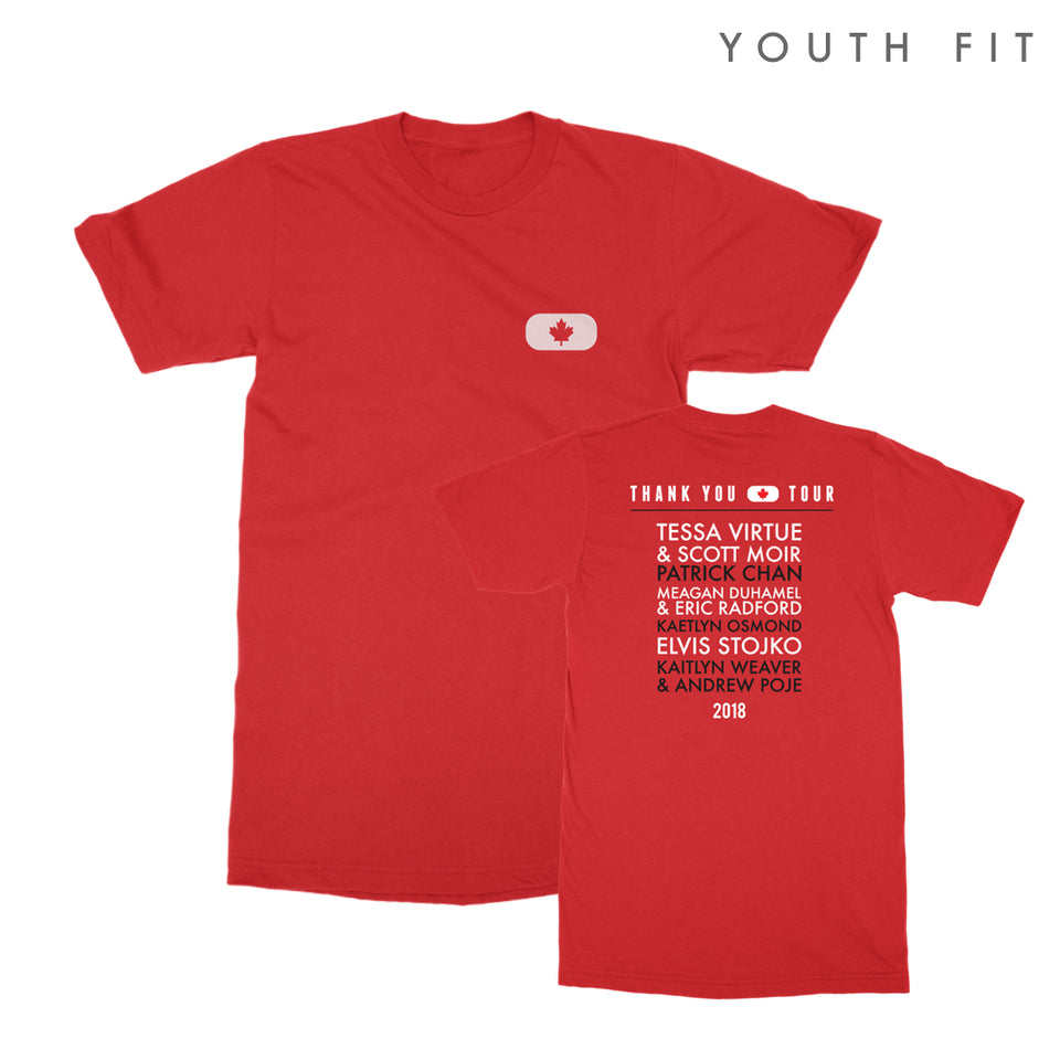 Thank You Canada Tour - Skater YOUTH Tee - Red