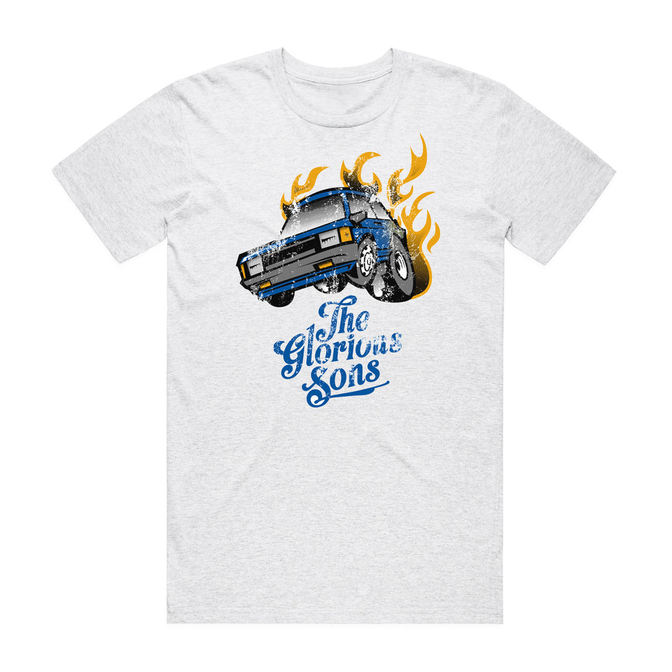 The Glorious Sons - Old Blue Toyota - Heather White Premium Tee