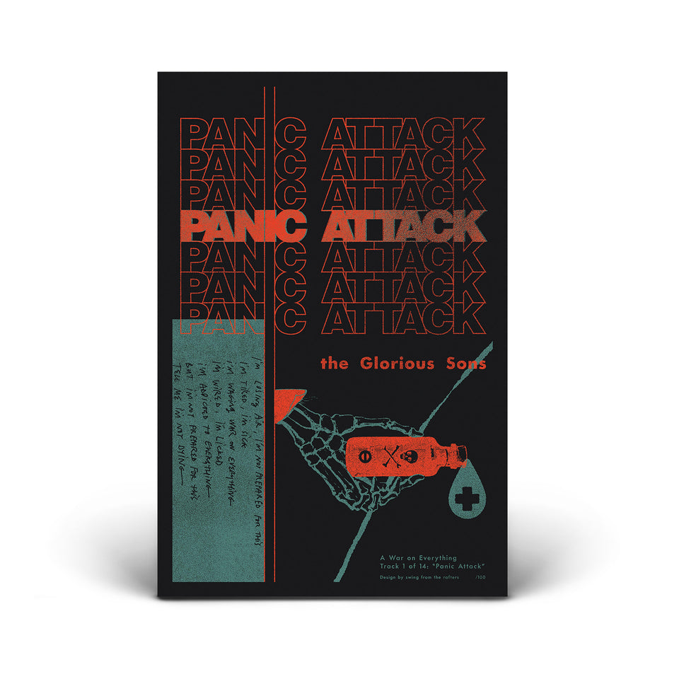 The Glorious Sons - A War On Everything Poster Series - Poster #1 - Panic Attack