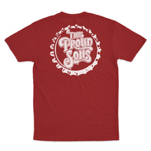The Proud Sons - Bottle Cap - Cardinal Red Tee