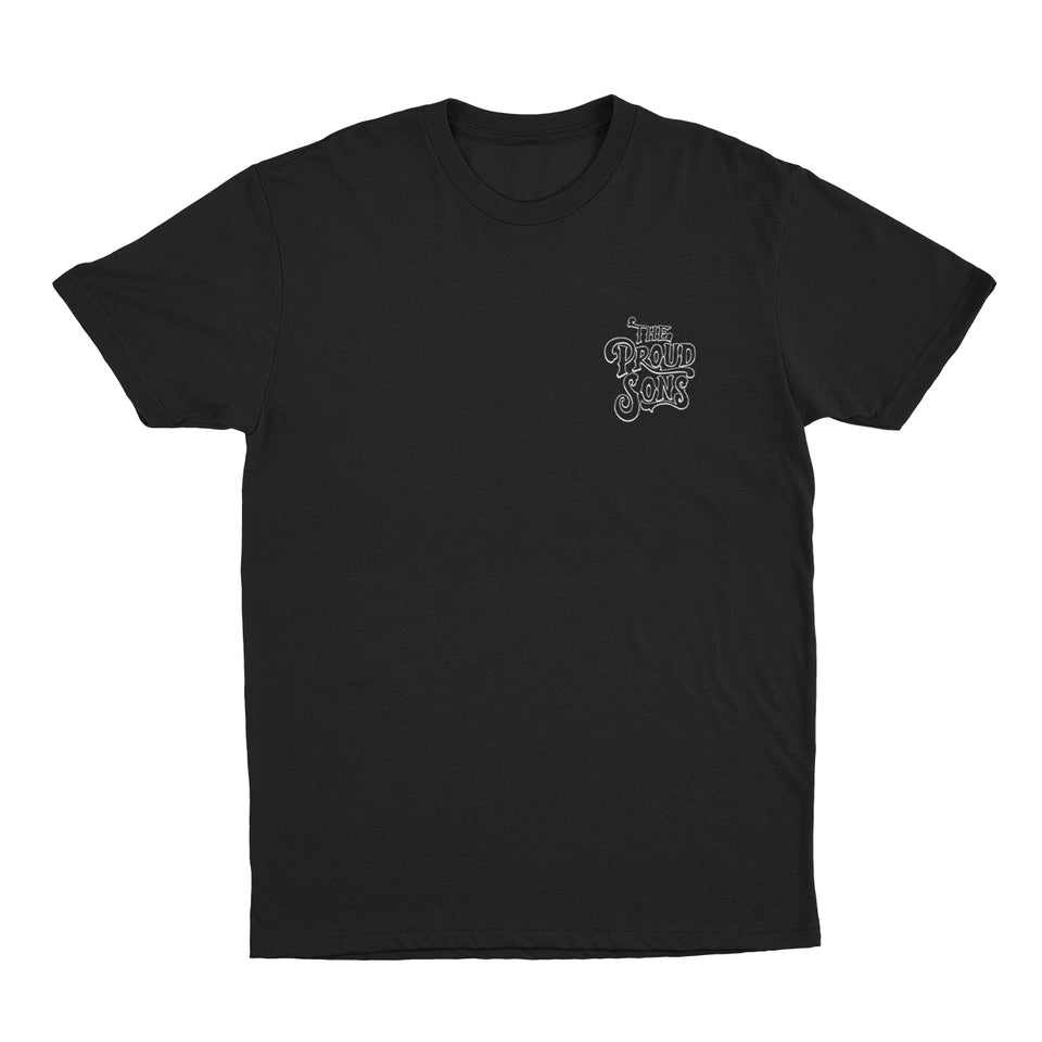 The Proud Sons - Bottle Cap - Black Tee