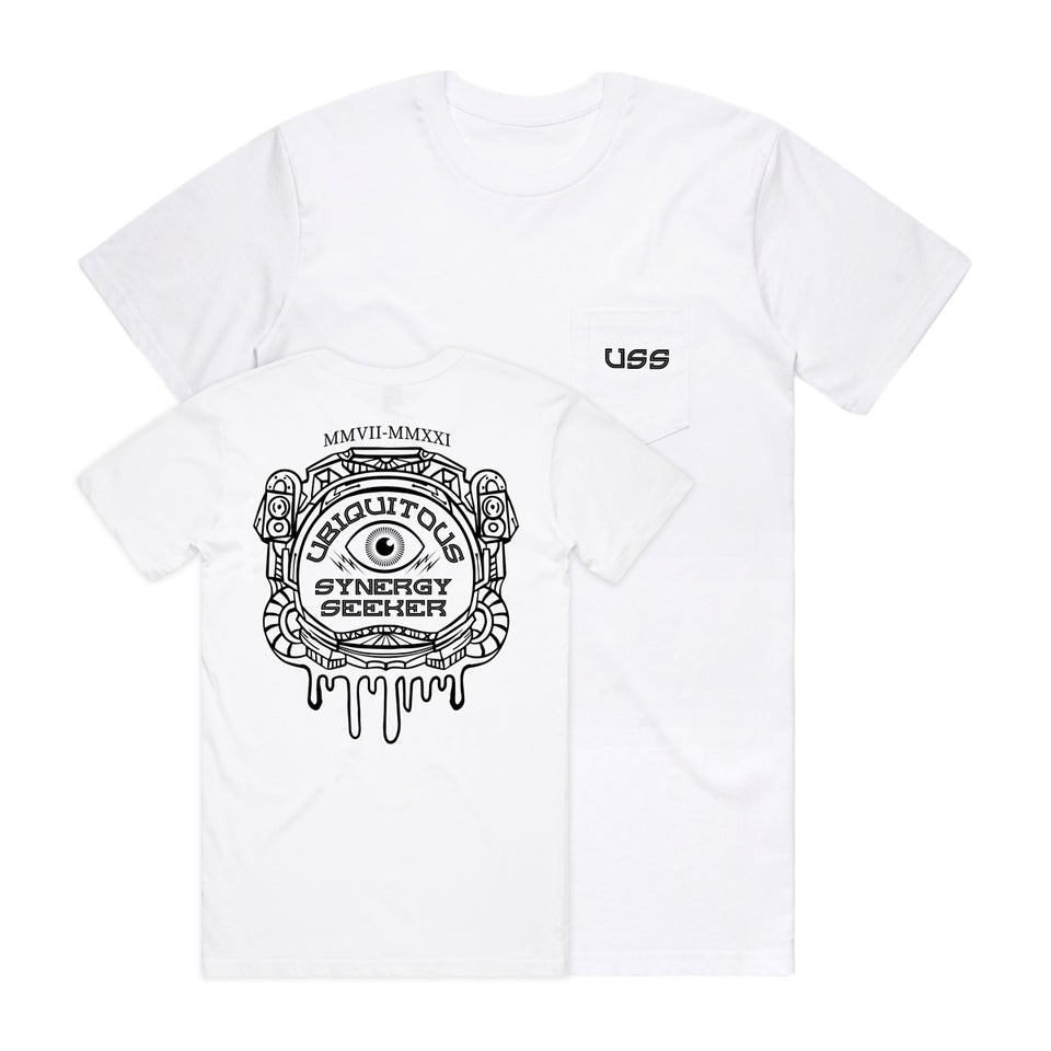 PRE ORDER - U.S.S. - Pocket Protector - White Pocket Tee