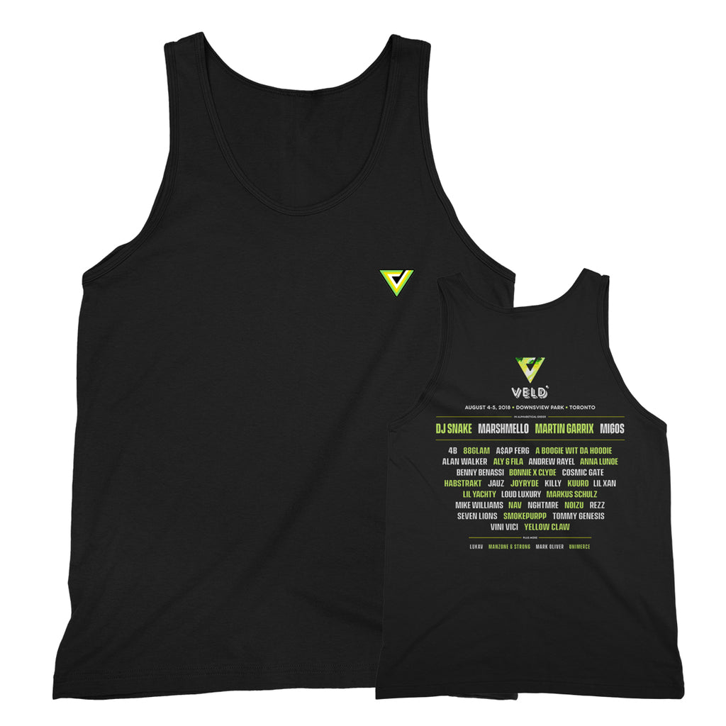 2018 VELD -V Patch- Black Unisex Tank Top