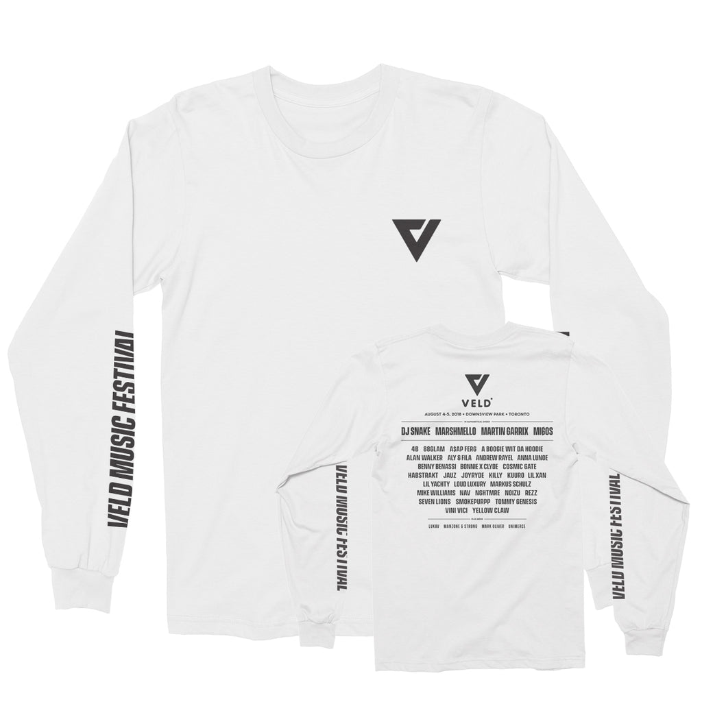 2018 VELD - Festival Long Sleeve Shirt - White