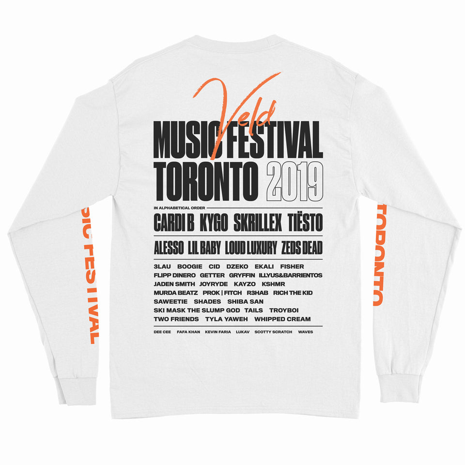 2019 VELD Official Festival Long Sleeve Shirt - White