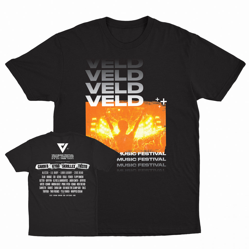 2019 VELD Official Festival Black Tee