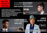 Male Hair Replacement (and Man Weave) Workshop