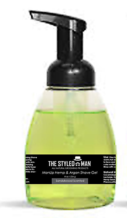 ManUp Hemp & Argan Foaming Shave Gel