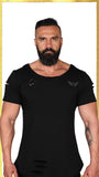 MIRAGE Heavy Duty Ripped Tshirt - Black Out | MİRAJ Tişört - Karanlık