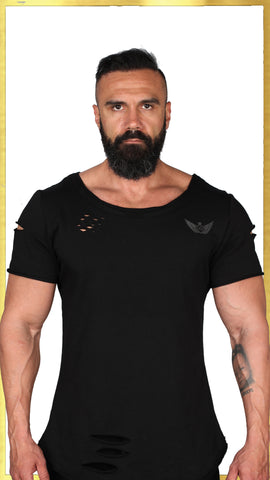 MORPHEUS Heavy Duty Ripped Tshirt - Black Out | MORPHEUS Tişört - Karanlık