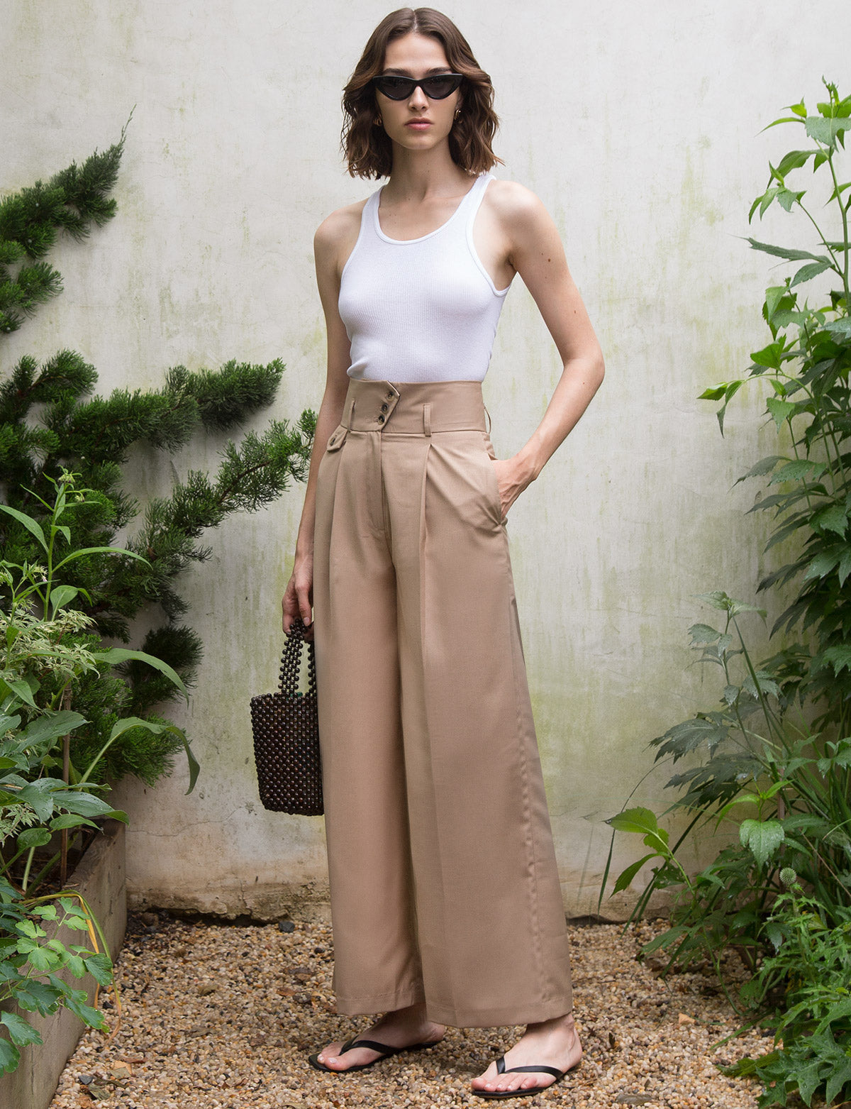 Casey Tan Wide Leg Pants