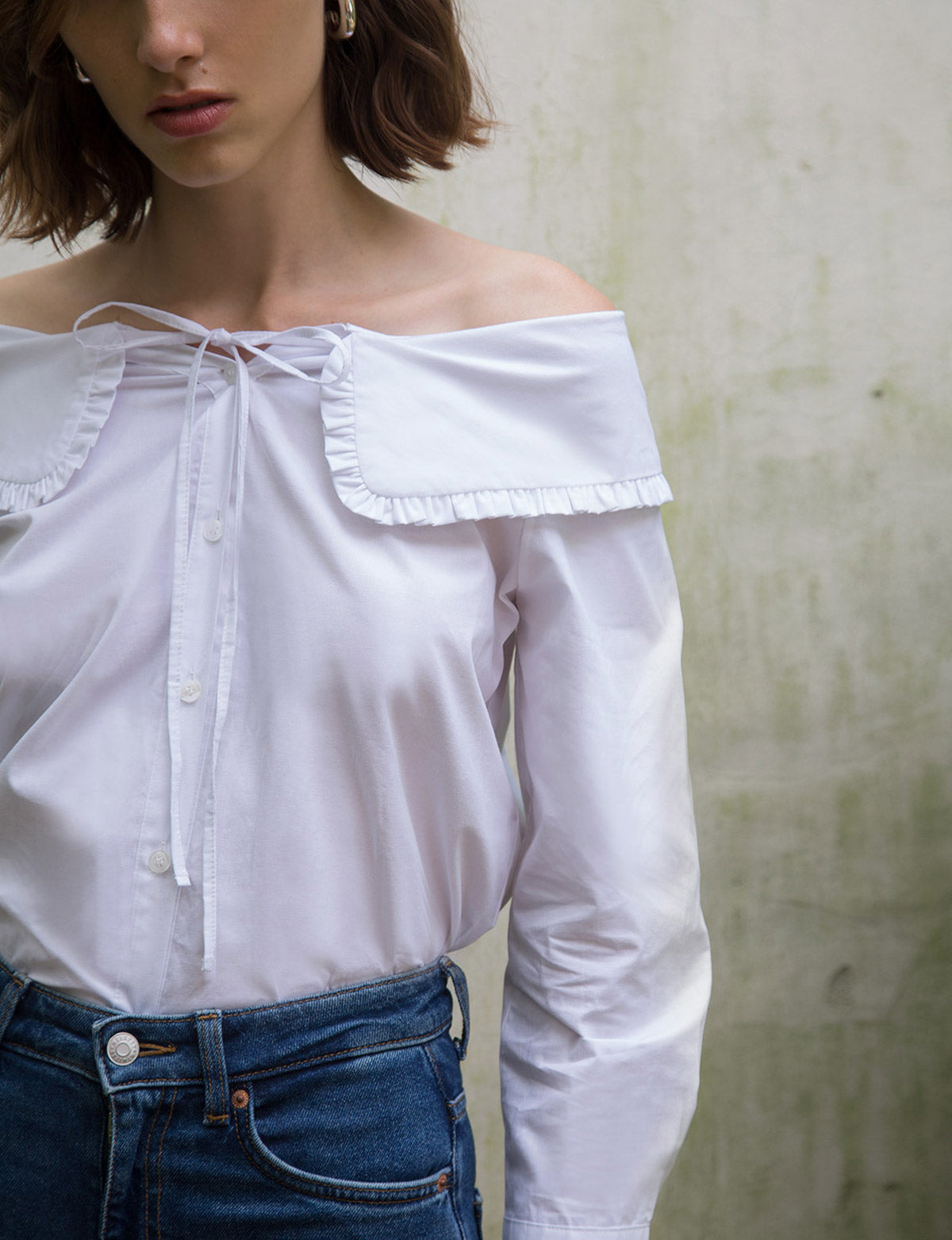Sailor Ruffled Collar Shirt