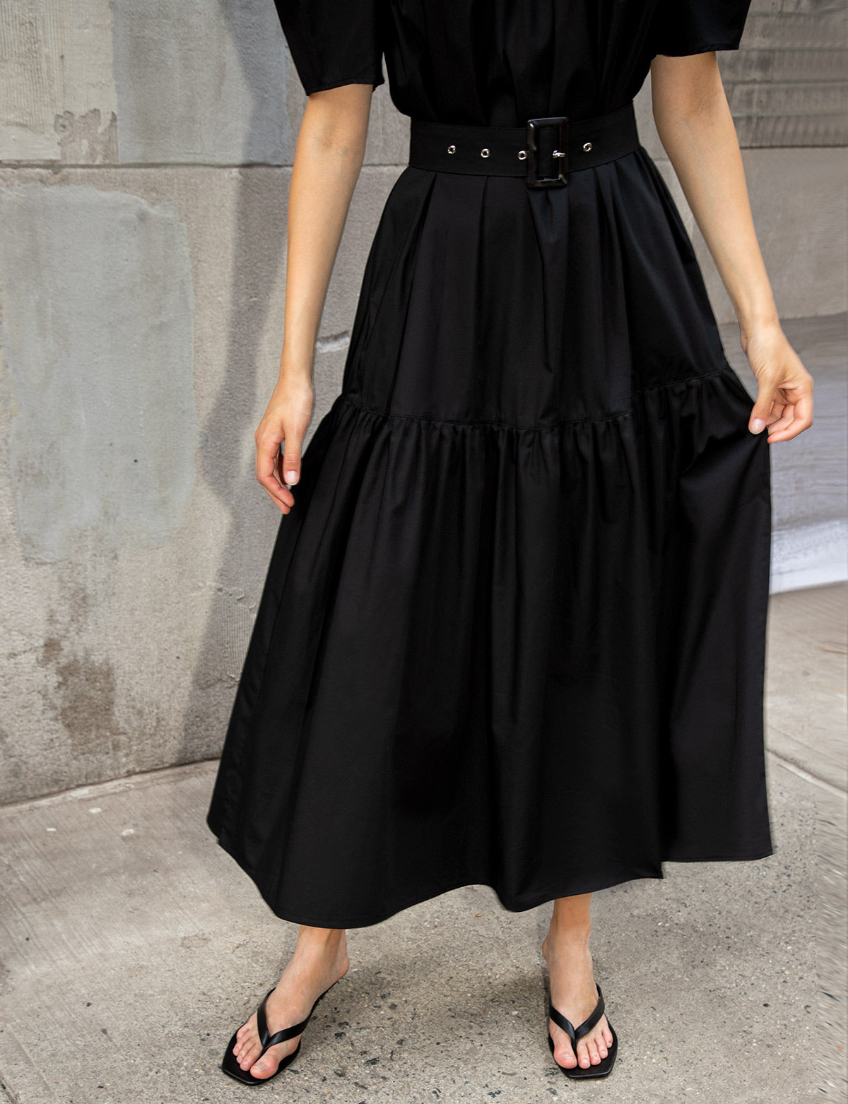 Mariana Puff Sleeve Belted Dress