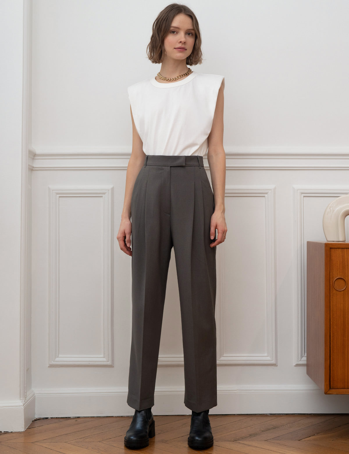 Jaime Grey Trousers -Preorder