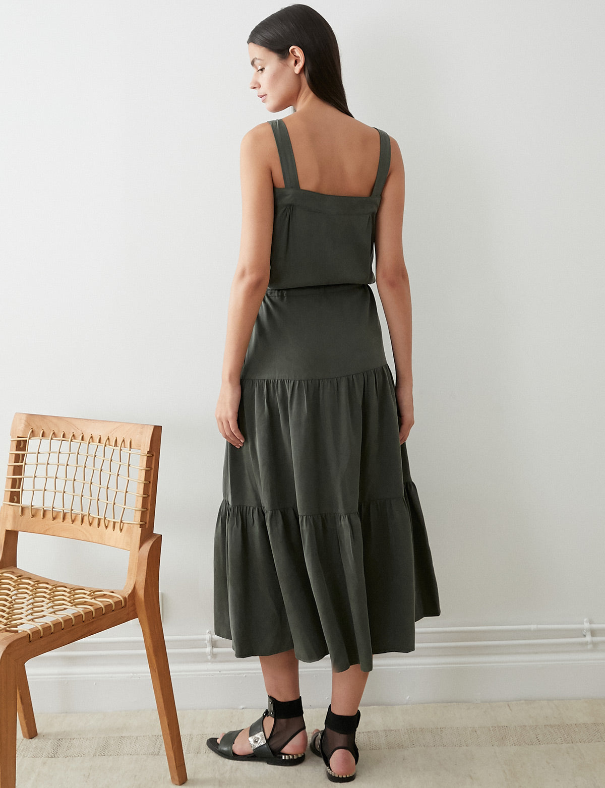 Ines Tencel Utility Maxi Dress