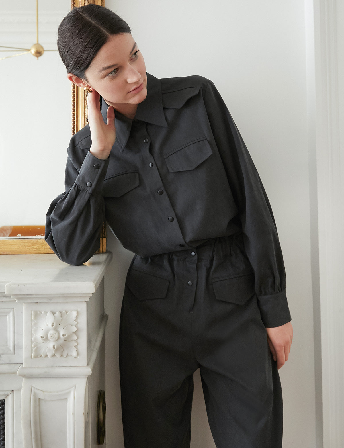 Charcoal Utility Jumpsuit