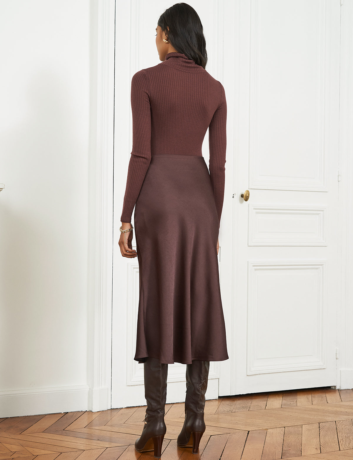 Chocolate Brown Rene Skirt