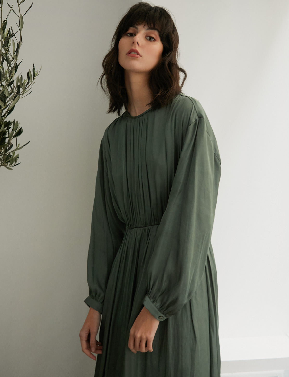 Jade Balloon Sleeve Dress