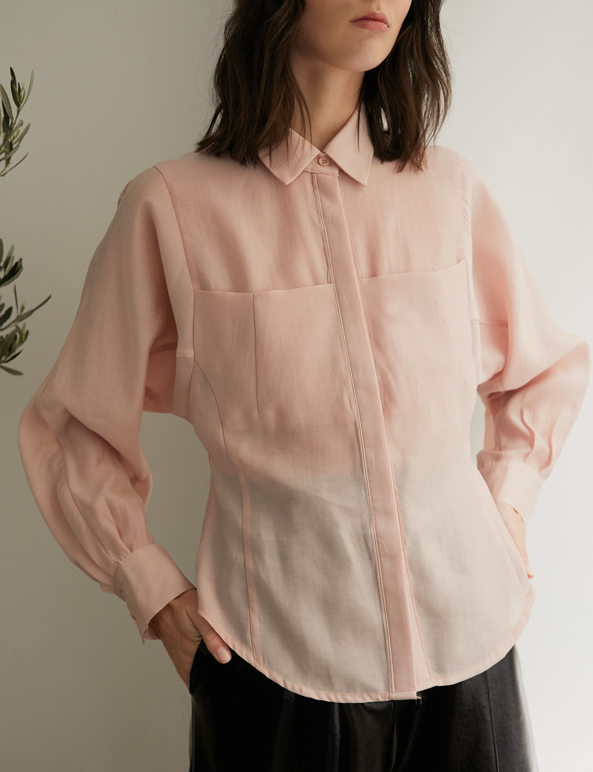 Pink Bustier Blouse