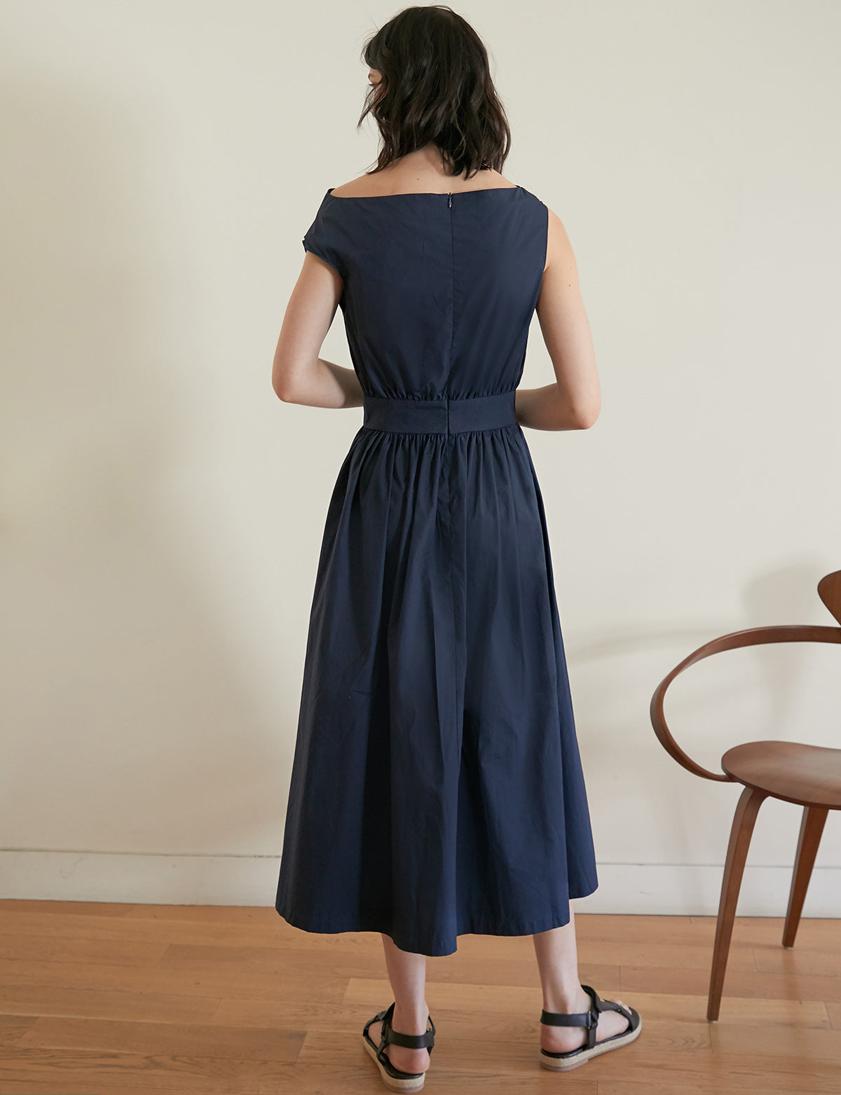 Navy One Shoulder Dress