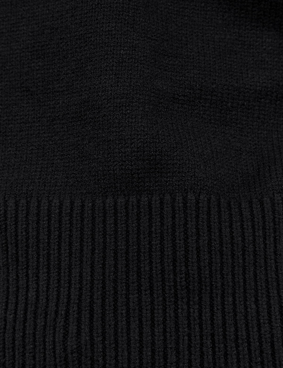 Black Back Tie  Crop Sweater