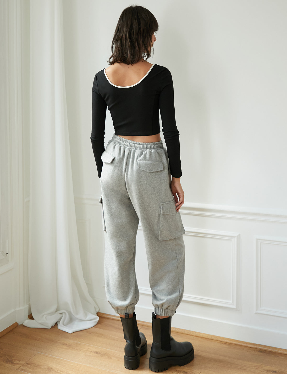 Grey Utility Sweatpants