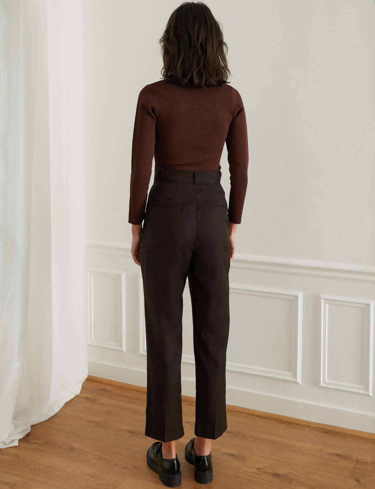 Jaime Pants in Chocolate Brown