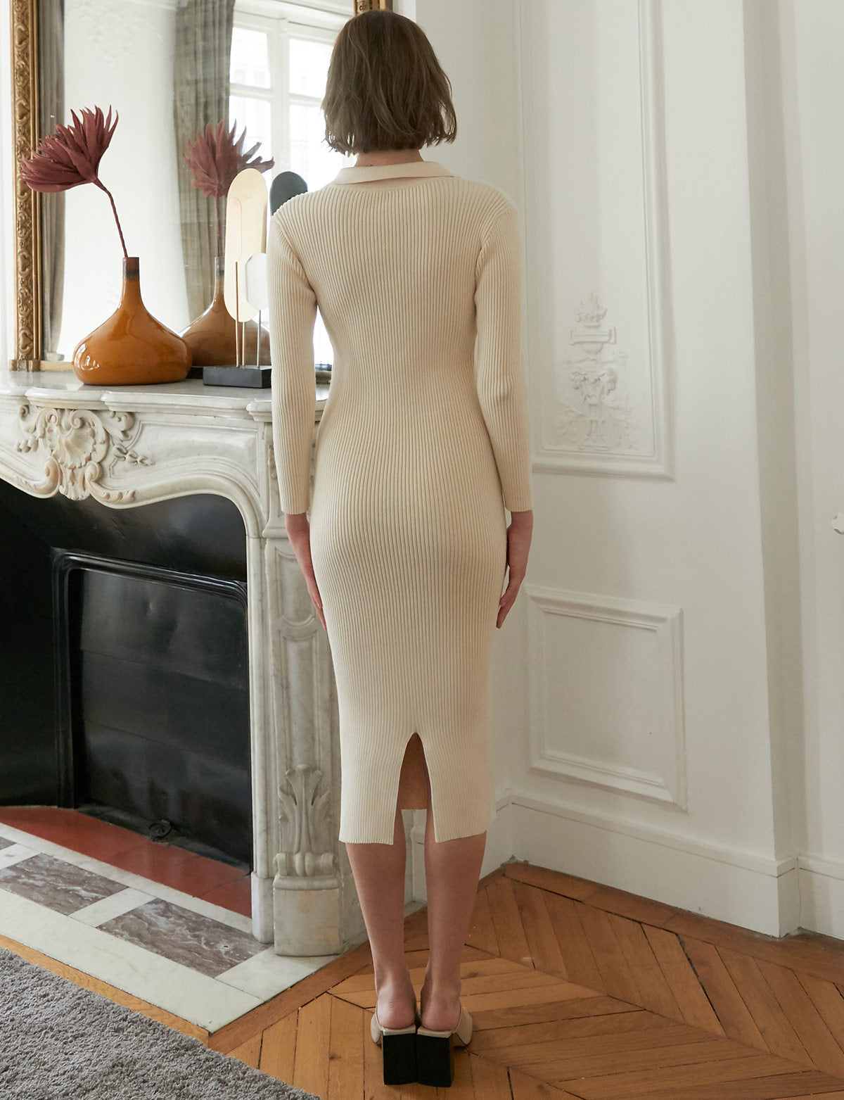 Otis Beige Polo Knit Dress