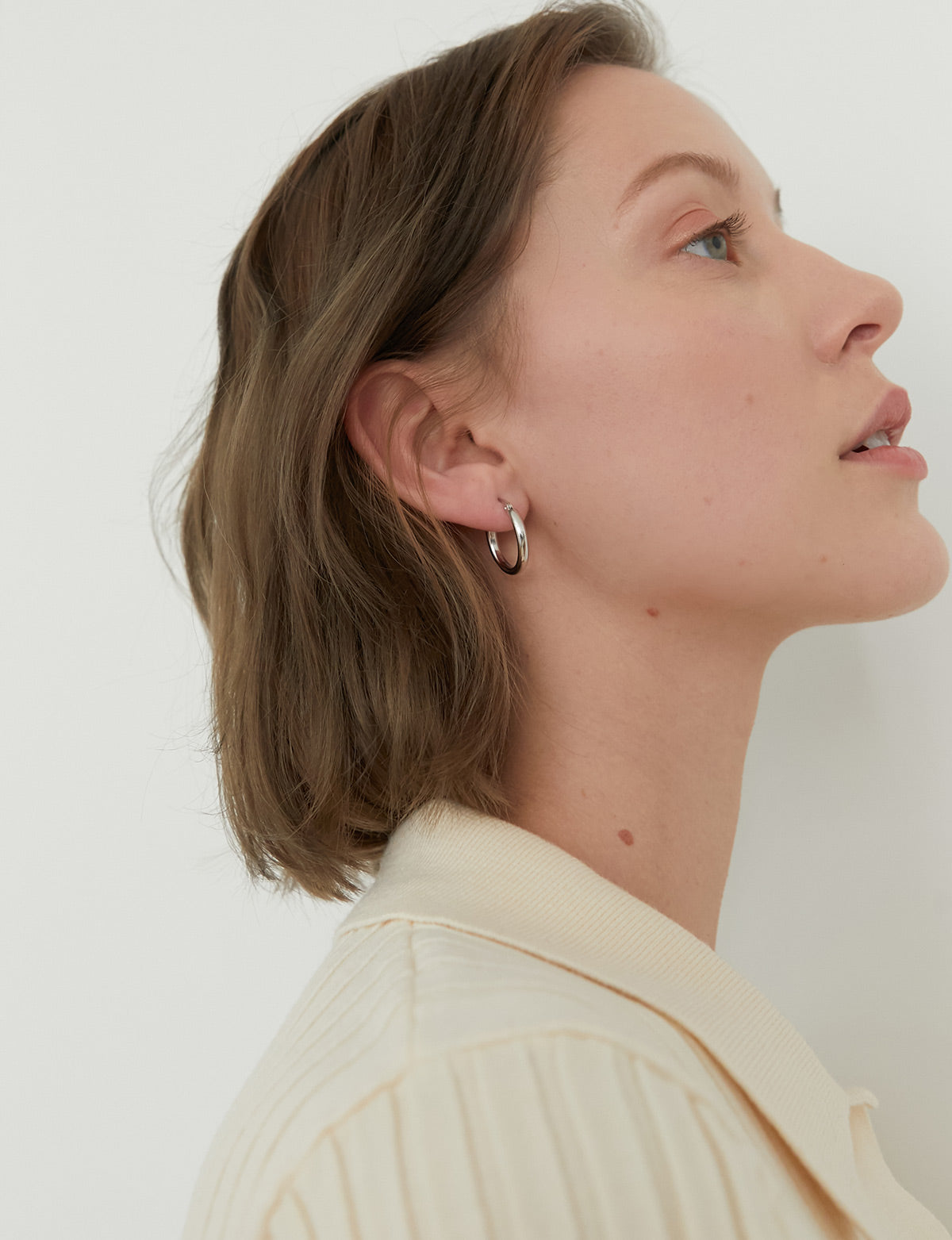 Siver Basic Hoop Earrings