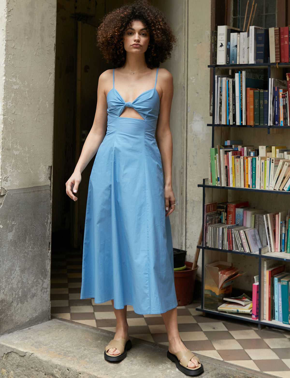 Amalfi Blue Knot Dress